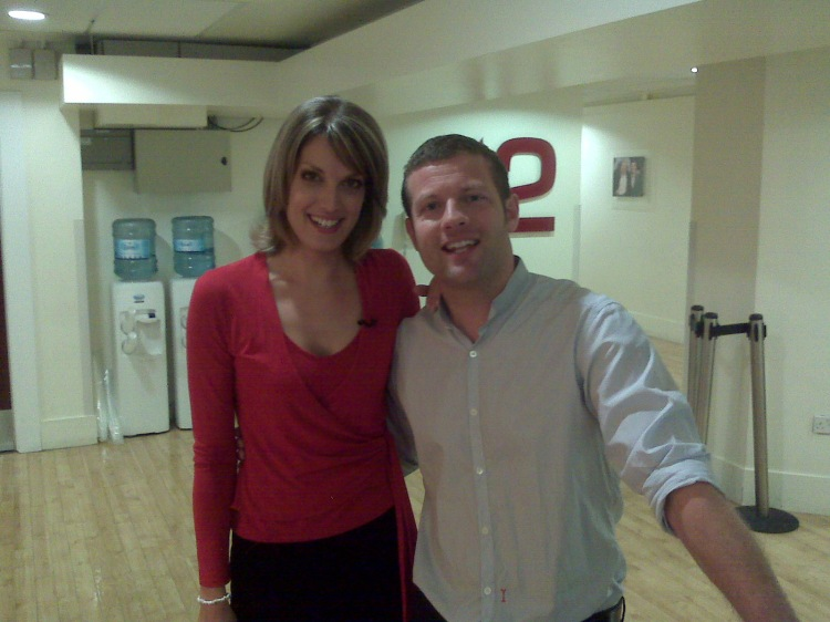 Andrea Benfield and Dermot O'leary