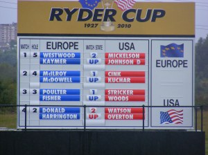 Ryder Cup 2010, Ryder Cup, Celtic Manor, Newport, golf