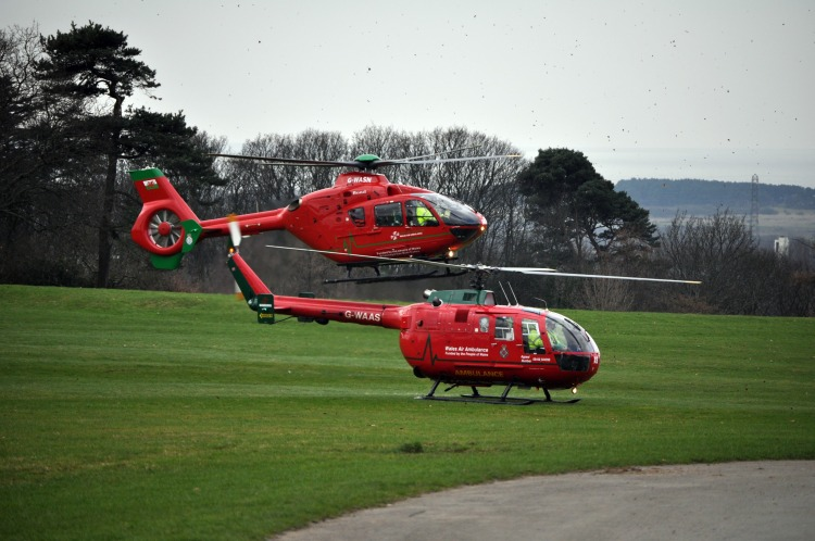 Wales Air Ambulance helicopters (Photo: Anita Harris)